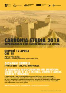 """Giovedì 12 aprile, nella Biblioteca comunale di Carbonia, si rinnova l'appuntamento con l'archeologia e la storia intitolato """"Carbonia Studia""""."""