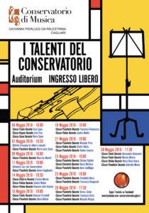 """Venerdì 4 maggio, al Conservatorio di Cagliari, prende il via """"I talenti del Conservatorio""""."""
