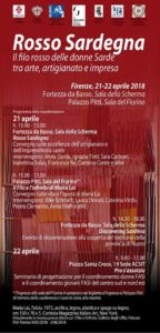 """Il 21 e 22 aprile, a Firenze, due giornate dedicate al """"filo rosso delle donne sarde tra arte, artigianato e impresa""""."""