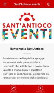 """""""Sant'Antioco EVENTI"""", un'applicazione per vivere appieno Sant'Antioco ed essere sempre aggiornati sugli eventi."""