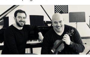 Giovedì 12 aprile, Gianmaria Melis e Giulio Biddau si esibiranno all'Auditorium Comunale, in Musica tra le Righe.
