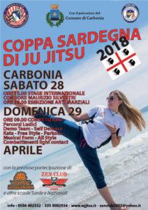 Sabato 28 e domenica 29 aprile Carbonia ospiterà la Coppa Sardegna di ju jitsu.