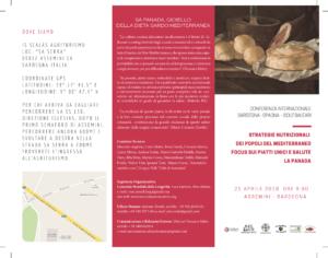 """E' in programma sabato 21 aprile, ad Assemini, il convegno internazionale """"Strategie Nutrizionali dei Popoli del Mediterraneo – Focus sui Piatti unici e salute – La Panada""""."""