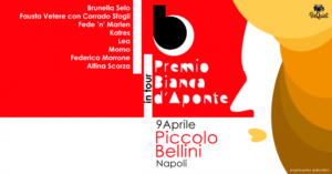 Un appuntamento tutto al femminile quello del 9 aprile al Piccolo Bellini di Napoli per il Premio Bianca d'Aponte.