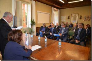 Si è svolta ieri, presso Villa Pertusola, sede del Parco Geominerario, la cerimonia di insediamento del Consiglio Direttivo dell'Ente.