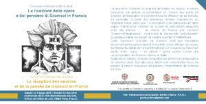 Si terrà sabato 12 maggio, a Parigi, unConvegno internazionale di studi sulla ricezione delle opere e del pensiero di Antonio Gramsci in Francia.
