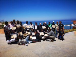"""Sono stati consegnati nei giorni scorsi al Centro di accoglienza per richiedenti asilo di Baja Sunajola, a Lu Bagnu Castelsardo, i diplomi nazionali CSEN di """"Operatore ludicomotorio""""."""