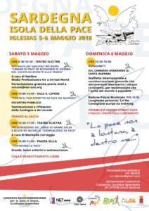 """Sabato 5 e domenica 6 maggio, Iglesias ospiterà l'iniziativa """"Sardegna – Isola della Pace""""."""