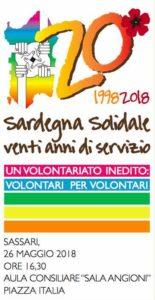 Sardegna Solidale compie vent'anni e inizia da Sassari una lunga serie di incontri che in tutti i territori dell'isola celebreranno l'anniversario.