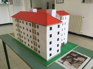 I modellini realizzati dagli studenti dell'Istituto Giovanni Maria Angioj di Carbonia per la Festa del Patrimonio.