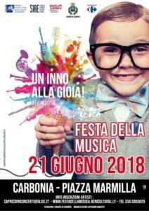 """Giovedì 21 giugno, la piazza Marmilla di Carbonia sarà punto di ritrovo di centinaia di giovani per la """"Festa della musica""""."""