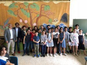 """Sono stati premiati questa mattina i ragazzi dell'istituto comprensivo statale """"Sant'Antioco Calasetta"""", impostisi nel premio """"scuola secondaria di primo grado"""" del Corepla school contest."""