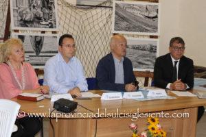 "Esperti, amministratori pubblici ed addetti ai lavori a confronto, stamane a Portoscuso, su ""Tonnare fisse: prospettiva di sviluppo ed attrattività turistica per il rilancio della pesca sostenibile""."