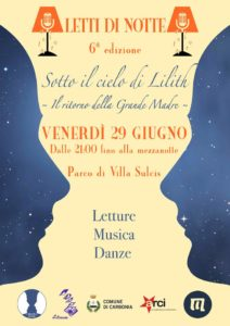 """Questa sera, a partire dalle ore 21.00, nel Parco di Villa Sulcis andrà in scena la 6ª edizione dell'evento """"Letti di Notte. Sotto il cielo di Lilith – Il ritorno della Grande Madre""""."""