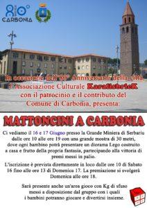 """Sabato 16 e domenica 17 giugno, a Carbonia, si svolgerà l'evento """"Mattoncini a Carbonia"""", viaggio nel meraviglioso mondo dei mattoncini Lego."""
