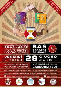 Venerdì 29 giugno, dalle ore 19.00 alle 20.30, ritorna il BAS – Baratto Solidale con laboratori di riciclo creativo per bambini e bambine.
