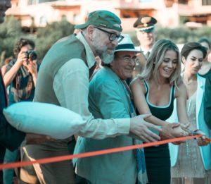 """Sfilata di celebrità per le inaugurazioni dei ristoranti della""""Nuova Costa Smeralda""""."""