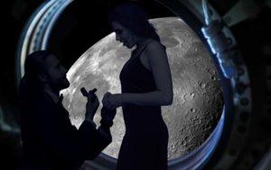 """Dal 2022 sarà possibile fare la propria proposta di matrimonio sorvolando la superficie lunare sulle note di """"Fly Me to the Moon"""" di Frank Sinatra, per 125 milioni di euro!"""