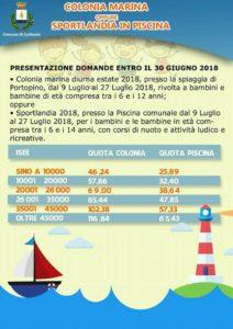 Carbonia: entro il 30 giugno le iscrizioni alla colonia marina diurna e a Sportlandia in piscina.