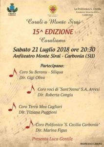Sabato sera, all'anfiteatro di Monte Sirai, si terrà la 15ª edizione del concerto Coraliams.