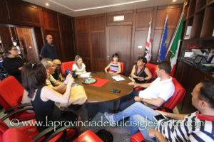 """Intervista al sindaco di Iglesias, Mauro Usai, dopo la nomina del 7° assessore, Angela Scarpa, 45 anni, indicata dal gruppo """"Piazza Sella""""."""