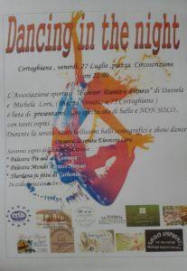 Balli coreografici e show dance questa sera, alle ore 22.00, a Cortoghiana, in piazza Circoscrizione.