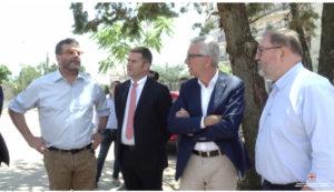 Il presidente Pigliaru, l'assessore della Sanità Arru, il DG Giorgio Lenzotti e il sindaco Andrea Soddu hanno visitato, a Nuoro, la sede dell'Areus.