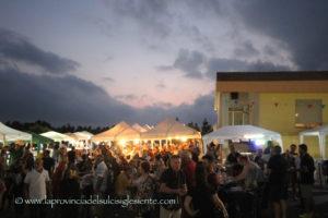 """Bilancio positivo per la prima edizione di""""Sapori di casa"""", l'evento svoltosi ieri seraa Sirai, sul piazzale della Cooperativa Allevatori Sulcitani."""