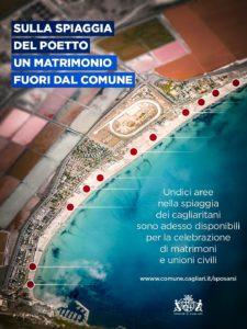 Il comune di Cagliari apre il Poetto ai matrimoni e alle unioni civili.