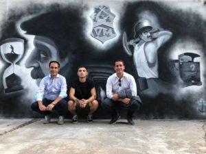 Ieri sera, nella frazione di San Benedetto, in occasione della festa di Santa Barbara, è stato inaugurato il murale realizzato da Manuel Boi.