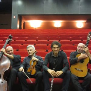 Domenica sera, davanti allo spettacolare scenario del Pan di zucchero, il Quartetto K sarà protagonista dei Tramonti di Porto Flavia.