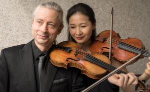 I due violinisti Yun Kim Fernandez e François Fernandez domani in concerto a Cagliari.