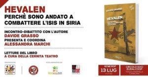 """Venerdì 13 luglio, nella sede del Circolo Soci Euralcoop, a Carbonia, si svolgeràun incontro-dibattito con Davide Grasso, autore del libro """"Hevalen""""."""