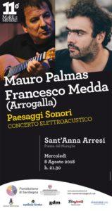 Mercoledì sera, a Sant'Anna Arresi, concerto elettroacustico di Mauro Palmas e Francesco Medda.