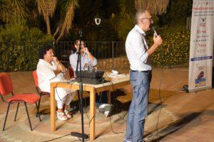 """Giovedì 2 agosto, a Teulada, è stato presentato il libro """"Torpedone Trapiantati"""", di Francesco Abate."""