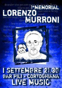 Sabato 1 settembre, a Cortoghiana, si terrà il 1° Memorial Lorenzo Murroni all'insegna della musica.