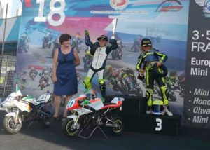"""Matteo """"Titino"""" Masili ha conquistato il secondo posto al Campionato Europeo di Minimoto, svoltosi il 4 e 5 agosto nel circuito di Franciacorta (BS)."""