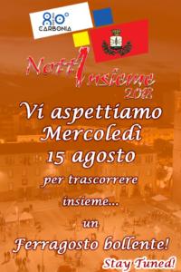"""""""Nottinsieme 2018"""", a Carbonia, non va in vacanza neppure per Ferragosto."""