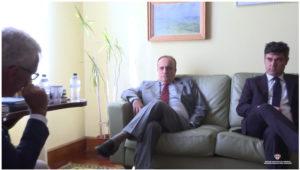 Il ministro dei Beni culturali Alberto Bonisoli a Nuoro con il governatore Francesco Pigliaru per la Festa del Redentore.