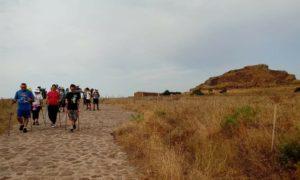 Nel giorno della partenza dei giovani pellegrini per l'incontro con Papa Francesco, altri due pellegrini hanno iniziato il Cammino Minerario di Santa Barbara.