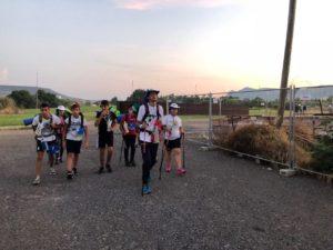 Il sindaco di Carbonia Paola Massidda e l'assessore Sabrina Sabiu, in viaggio da Carbonia a Cortoghiana, insieme ai giovani della diocesi di Iglesias.