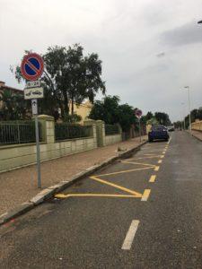 A Carbonia sono terminati i lavori per la realizzazione della nuova segnaletica orizzontale in prossimità del parcheggio multipiano di via Verona.