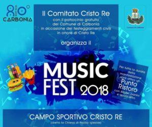 Un ricco programma di eventi, sabato 25 e domenica 26 agosto, caratterizzerà i festeggiamenti civili in  onore di Cristo Re, a Carbonia.