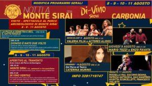 """Oggi Caterina Murino è la protagonista del terzo appuntamento della rassegna """"Notti a Monte Sirai"""", con """"Dioniso & Figlie – Premiata Vineria""""."""