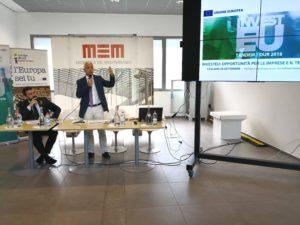 """Il vicepresidente della Regione, Raffaele Paci, ha aperto alla MEM di Cagliari, i lavori di """"InvestEu"""", opportunità per le imprese ed il territorio."""