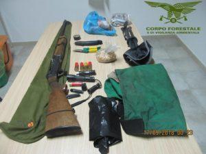 """Due bracconieri di Teulada sono stati denunciati in flagranza di reato dalCorpo Forestale, in località """"Tintioni"""", nel complesso forestale del Sulcis."""