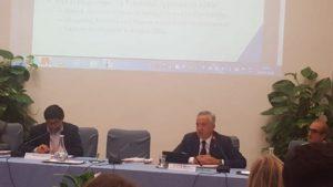 """L'assessore degli Affari generali Filippo Spanu è intervenuto a Firenze all'incontro """"Quale cooperazione allo sviluppo tra Europa post 2020 e Agenda 2030""""."""