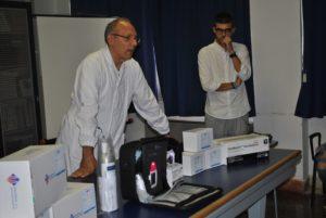 """L'associazione sportiva """"Gianni Fresu"""" dona alla Pediatria dell'Aou di Sassari un apparecchio completo di kit per il breath test."""