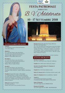 Da lunedì 10 settembre è in corso di svolgimento, a Carbonia, la Festa Patronale della Parrocchia Beata Vergine Addolorata.