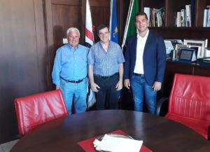 Lunedì 3 settembre il sindaco di Iglesias Mauro Usai e l'assessore dei Lavori pubblici Vito Didaci hanno incontrato l'Amministratore Unico di Abbanoa Abramo Garau.